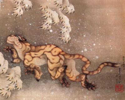 Hokusai-Vecchia-tigre-nella-neve