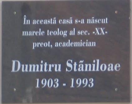 placa memoriala Dumitru Staniloae