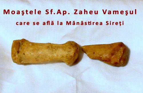 Sfantul Zaheu, Sfinte Moaste